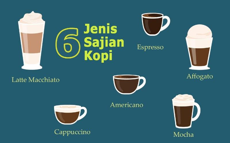Ragam sajian minuman kopi.  - Bisnis/Janlika