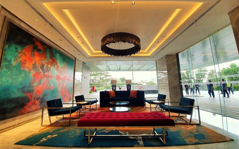 Lobi di salah satu manara apartemen di kawasan Ciputra International yang berlokasi di Puri Indah, Jakarta Barat. - Istimewa