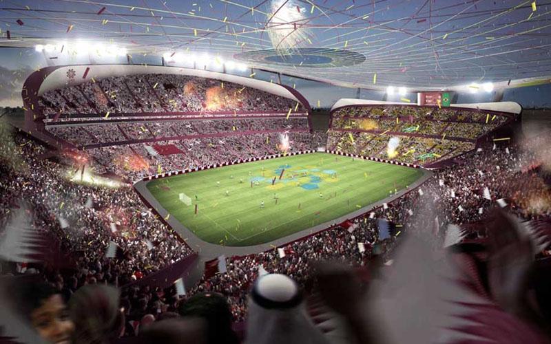 Lusail Iconic Stadium di Lusail, Qatar. - E/Architect