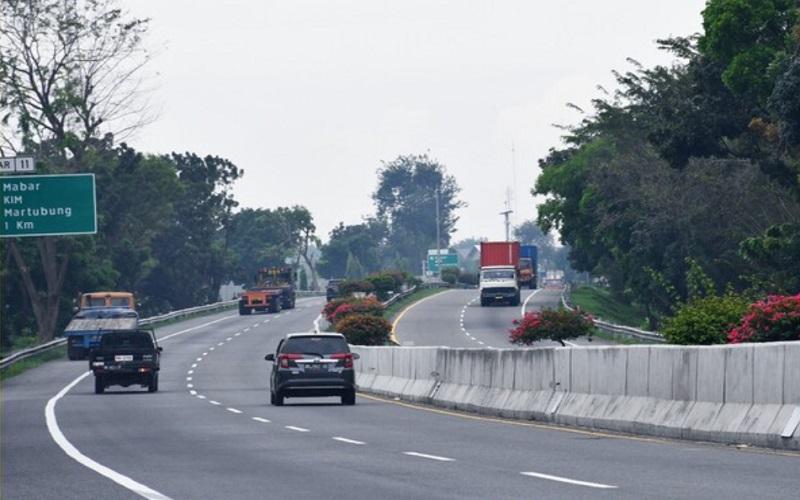 Kendaraan lalu-lalang di jalan tol Belawan-Medan-Tanjung Morawa. - Istimewa/BPJT