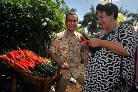 Menteri Pertanian Belanda di Kebun Ewindo - Antara