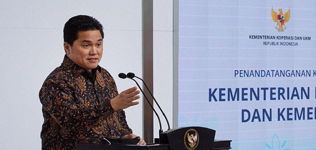 Menteri Badan Usaha Milik Negara (BUMN) Erick Thohir . ANTARA FOTO/Dhemas Reviyanto -