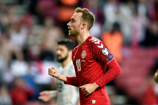 Penyerang Timnas Denmark Christian Eriksen. - Reuters
