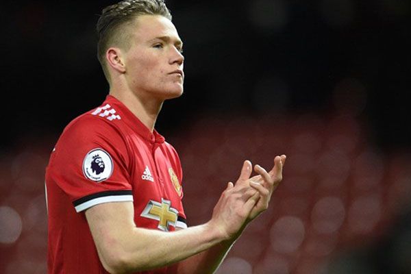 Gelandang Manchester United Scott McTominay - Reuters