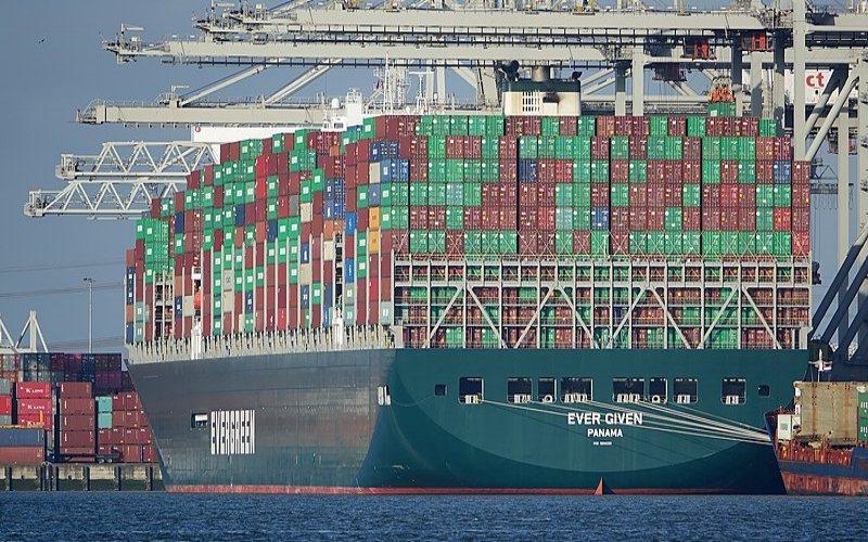 Ever Given ketika berada di terminal ECT Delta di Pelabuhan Rotterdam. - Istimewa/Wikipedia