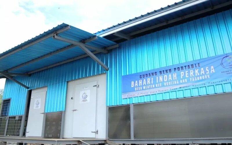 Ilustrasi - Gudang beku tempat penyimpanan ikan di Desa Mlaten, Kabupaten, Pasuruan, Jawa Timur. - Antara/KKP