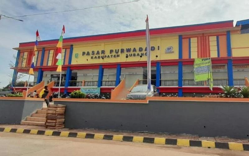 Pasar Purwadadi Kabupaten Subang - Bisnis/Asep Mulyana