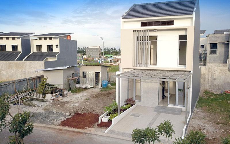 pembangunan klaster New Shinano Precast di Jakarta Garden City menggunakan teknologi precast. - Istimewa
