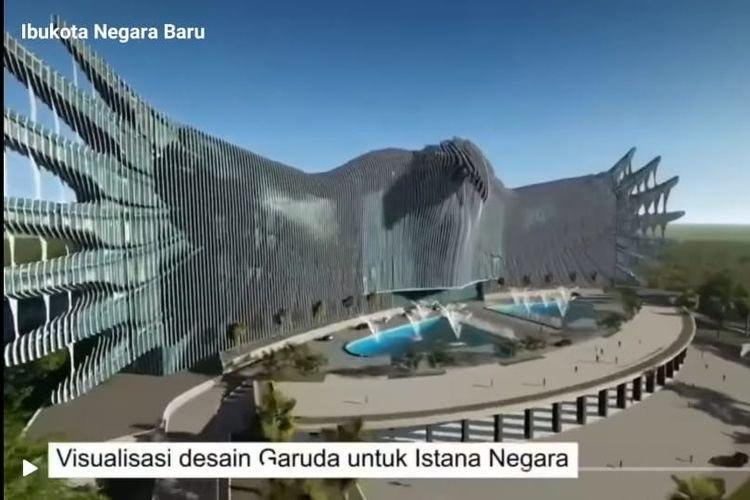 Visualisasi desain Garuda untuk Istana Negara di Kalimantan, tempat Ibu Kota baru. - @sociotalker