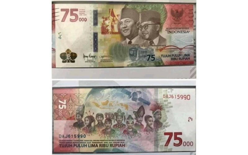Uang Peringatan Kemerdekaan 75 Tahun RI. - Istimewa