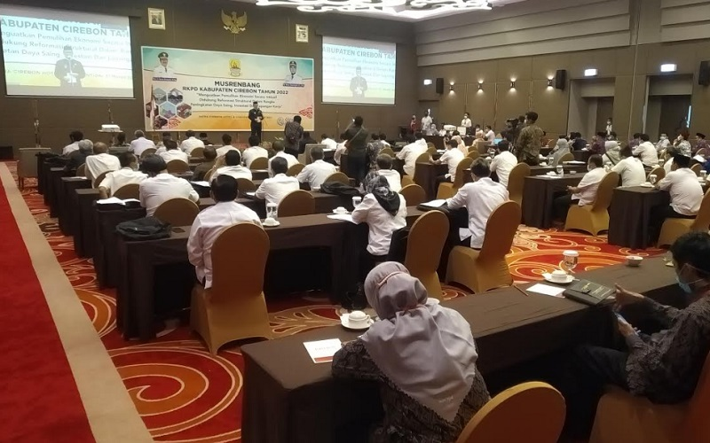Musyawarah Perencanaan Pembangunan (Musrenbang) Rencana Kerja Peringkat Daerah (RKPD) 2022 Kabupaten Cirebon - Bisnis/Hakim Baihaqi