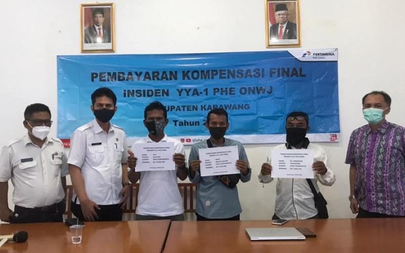 Pembayaran kompensasi final insiden tumpahan minyak dengan penerima terdiri dari nelayan, pelaku wisata bahari dan poklahsar. Adapun total kompensasi tahap final ini mencapai Rp72,16 miliar.