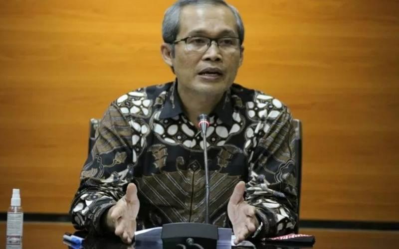 Wakil Ketua KPK Alexander Marwata saat jumpa pers di Gedung KPK, Jakarta, Kamis )19/11/2020). - Antara