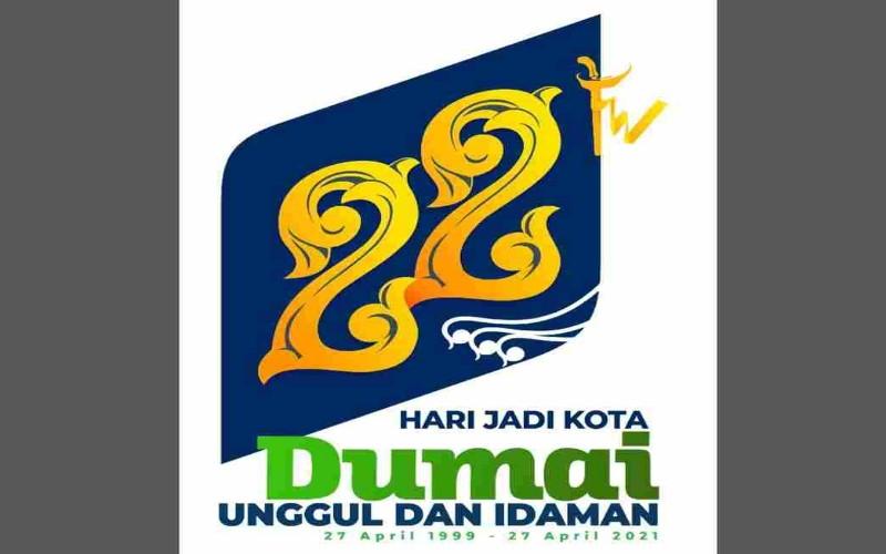 Logo HUT ke-22 Pemkot Dumai - Istimewa
