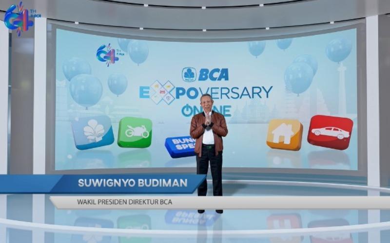 Gelaran BCA Expoversary Online 2021 resmi ditutup pada Sabtu (27/03) oleh Wakil Presiden Direktur BCA Suwignyo Budiman - Istimewa