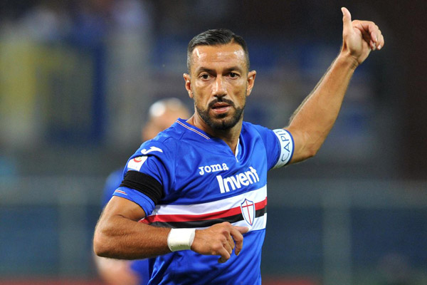 Ujung tombak Sampdoria Fabio Quagliarella - Reuters