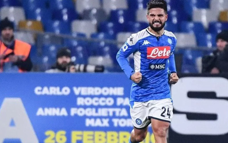 Penyerang Napoli Lorenzo Insigne./Antara - AFP