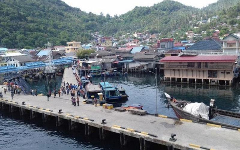 Pelabuhan Tarempa di Anambas merupakan salah satu pintu ekspor Kepulauan Riau. - Antara