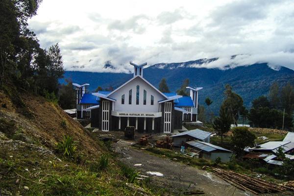 Ilustrasi - Gereja di daerah Sugapa di Timika, Papua - Istimewa