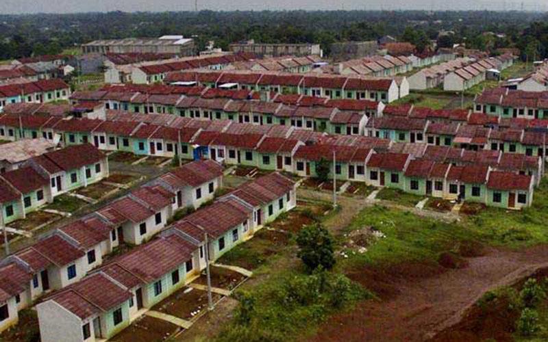 Ilustrasi proyek pengembangan perumahan bersubsidi untuk masyarakat berpenghasilan rendah./Bisnis.com - Nurul Hidayat
