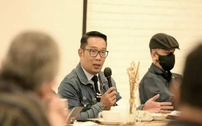 Ketua Asosiasi Daerah Penghasil Migas dan Energi Terbarukan sekaligus Gubernur Jawa Barat Ridwan Kamil. - Antara