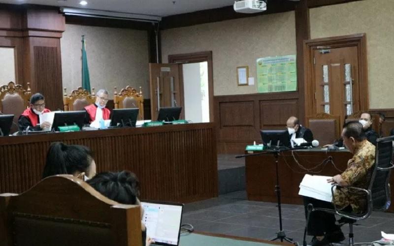 Sidang pembacaan nota pembelaan (pleidoi) untuk terdakwa Djoko Tjandra di pengadilan Tindak Pidana Korupsi (Tipikor) Jakarta, Senin (15/3/2021). - Antara\r\n