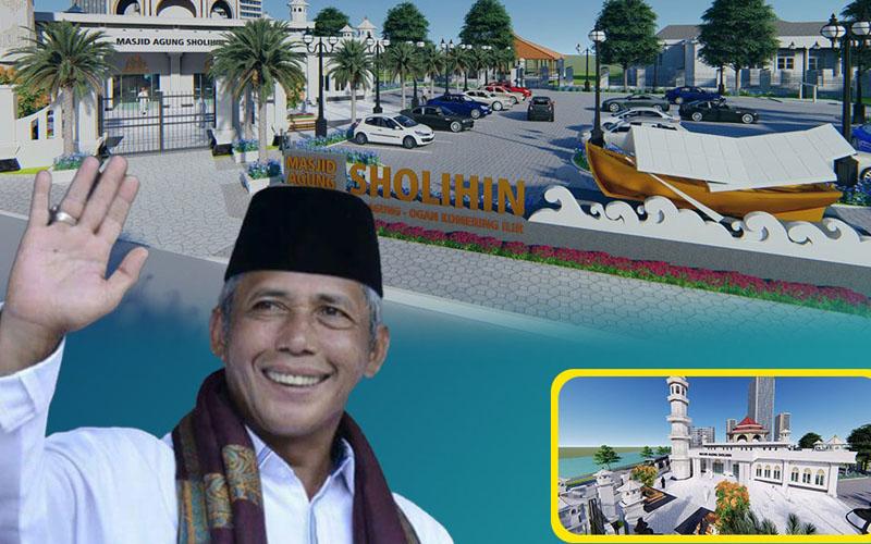 Pemerintah Kabupaten Ogan Komering Ilir (OKI) melakukan penataan kawasan Masjid Agung Sholihin pada tahun ini. - Istimewa