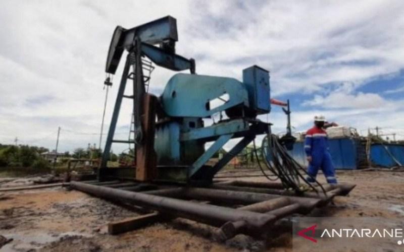 Sumur PAM-235 milik Pertamina EP Tarakan Field pasca-natural flow atau semburan lumpur bercampur minyak di kawasan Kampung Satu, Tarakan, Minggu (4/4/2021). -  Dokumen Pertamina EP Tarakan Field.