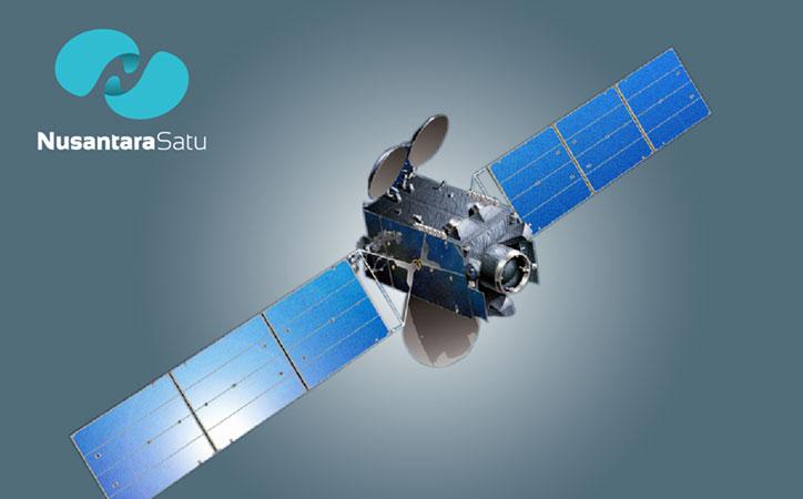 Ilustrasi Satelit Nusantara Satu. - Pasifik Satelit Nusantara