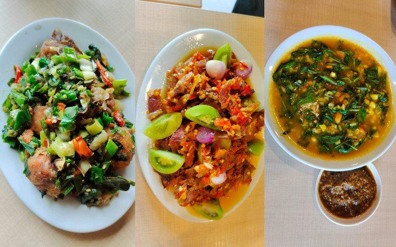 Ayam Woku, Cakalang Rabe Rica, Bubur Manado dan Sambal Roa.  - Beautika