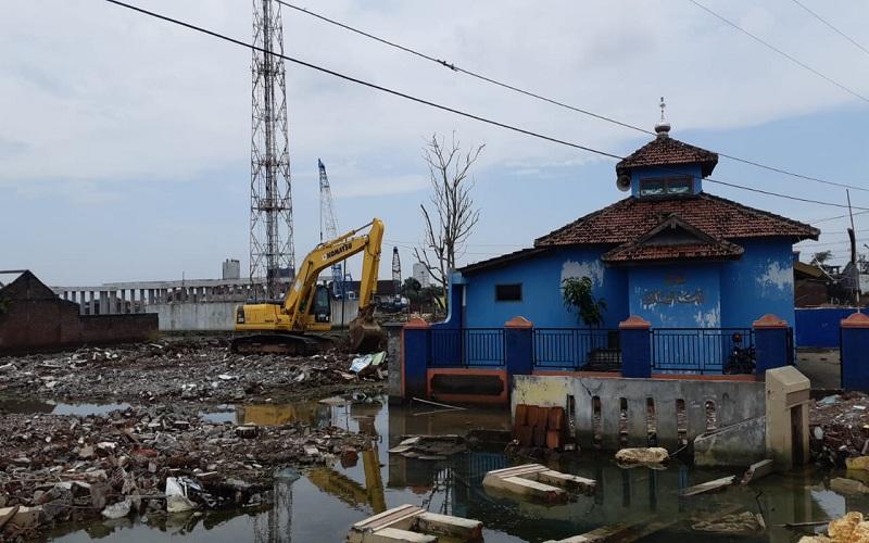 Ilustrasi - Proses pembangunan Jalan Tol Semarang - Demak - Bisnis/Muhammad Faisal Nur Ikhsan