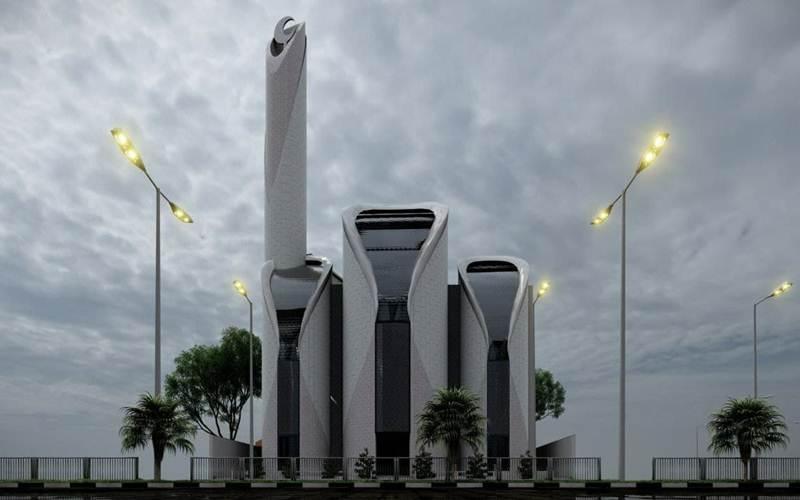 Desain Masjid di Jalur Gaza rancangan Ridwan Kamil - Istimewa