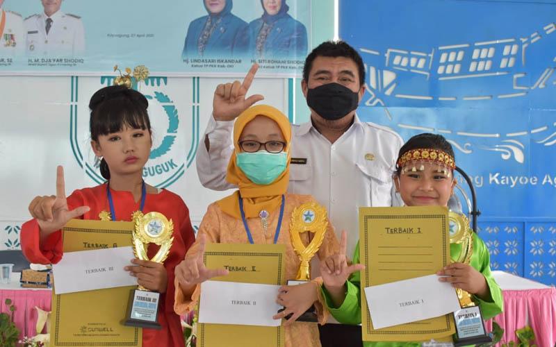 Pemenang dari lomba bercerita ini akan mewakili Kabupaten OKI untuk lomba bercerita di tingkat Provinsi Sumatra Selatan. - Istimewa