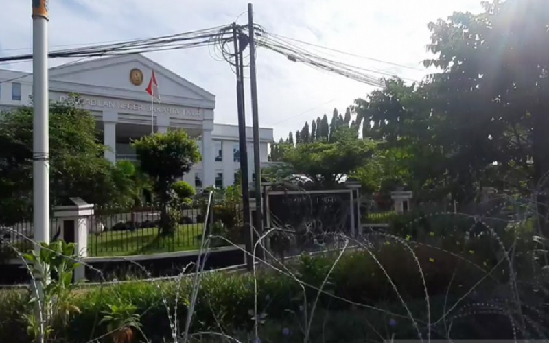 Suasana gedung Pengadilan Negeri Jakarta Timur saat sidang lanjutan Rizieq Shihab dengan agenda putusan sela oleh Majelis Hakim, Selasa (6/4/2021). - Antara