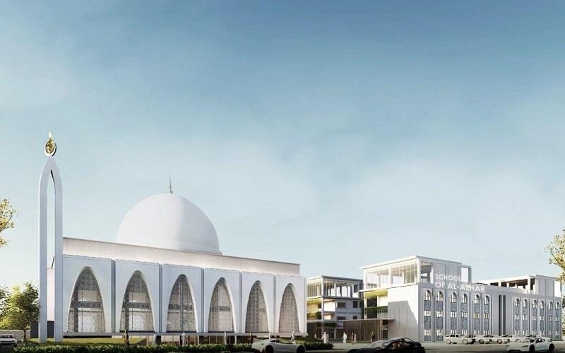 Rancangan konsep Islamic boarding school Al-Azhar di kompleks Podomoro Park Bandung - Istimewa