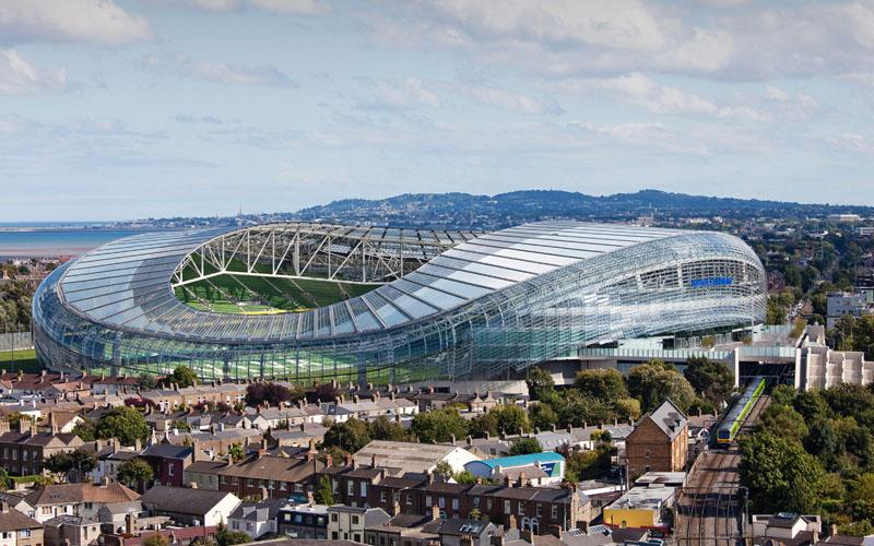 Stadion Aviva di Dublin, Irlandia. - avivastadium.ie