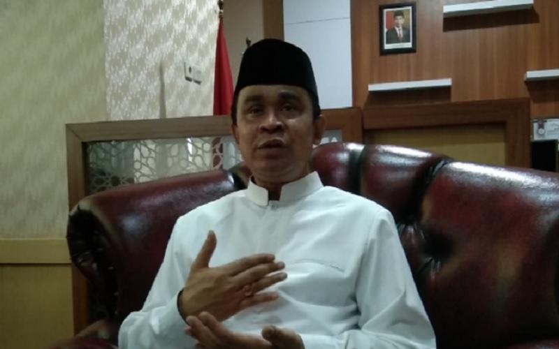Kepala Kemenag Sultra Fesal Musaad di Kendari, Kamis (8/4/2021). - Antara\r\n