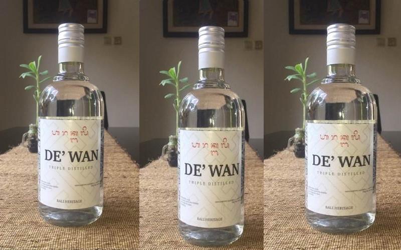 Ilustrasi-Botol kemasan arak Bali. - Istimewa