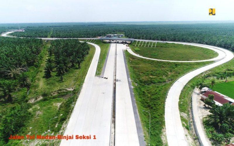 Pembangunan jalan tol Binjai-Langsa Seksi 1. - Istimewa/Kementerian PUPR