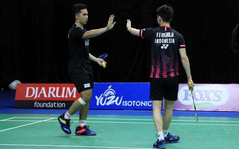 Kevin Sanjaya Sukamuljo-Moh. Reza Pahlevi - Badminton Indonesia