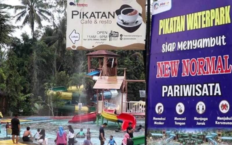 Pikatan Water Park batasi pengunjung tradisi padusan antisipasi penyebaran Covid-19. - Antara/Heru Suyitno