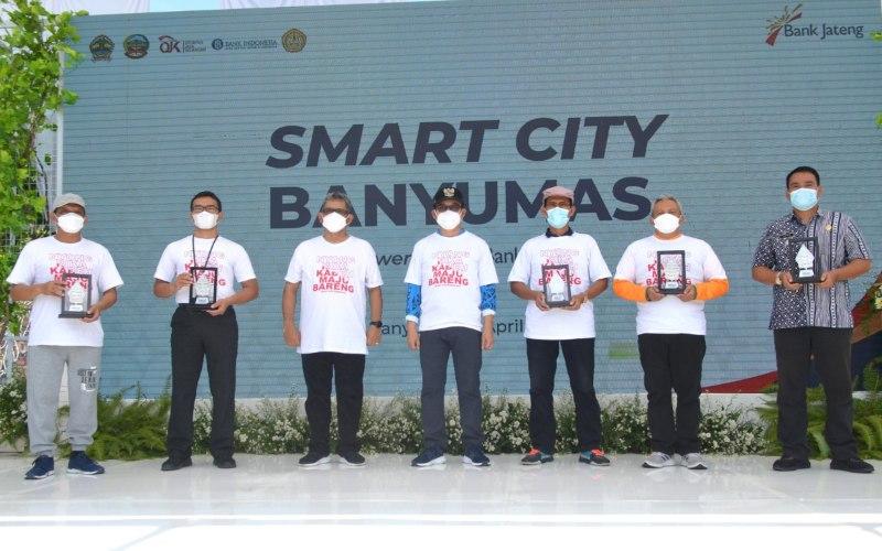 Bank Jateng bekerja sama dengan Pemerintah Kabupaten Banyumas menyelenggarakan rangkaian kegiatan Smart City Powered By Bank Jateng sebagai bagian dari rangkaian peringatan HUT Bank Jateng ke/58. (Foto: Istimewa)