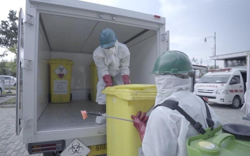 Pengelolaan limbah vaksinasi oleh Jasa Medivest - Istimewa