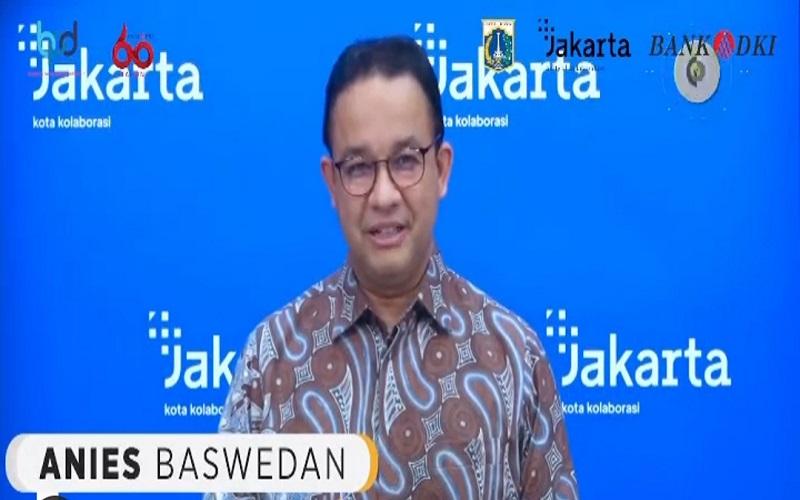Gubernur DKI Jakarta Anies Baswedan mengucapkan selamat HUT Ke-60 kepada Bank DKI  -  Bank DKI