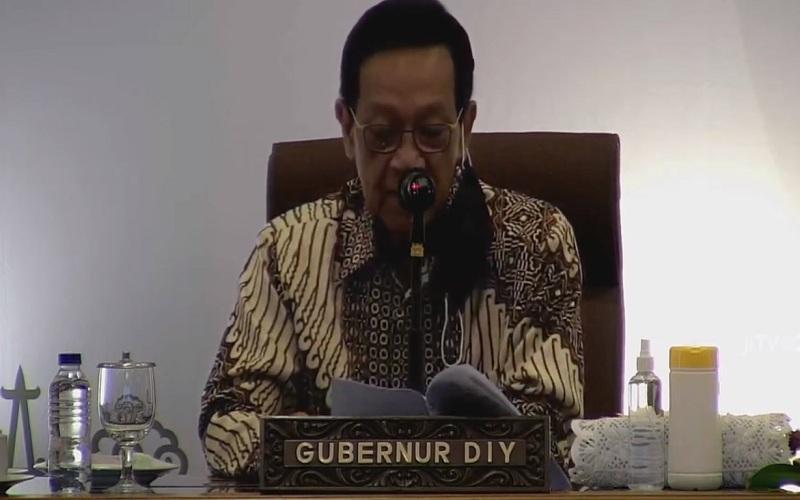 Gubernur DIY, Sri Sultan Hamengku Buwono X, memimpin Musrenbang yang membahas RKPD DIY tahun 2022, Senin (12/4/2021)  -  Istimewa / Pemerintah Provinsi DIY