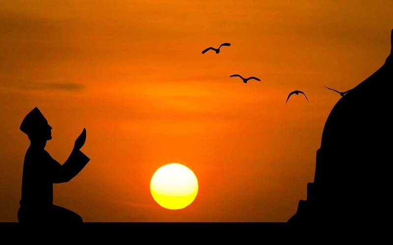 Ilustrasi berdoa menyambut bulan suci Ramadan  -  Istimewa