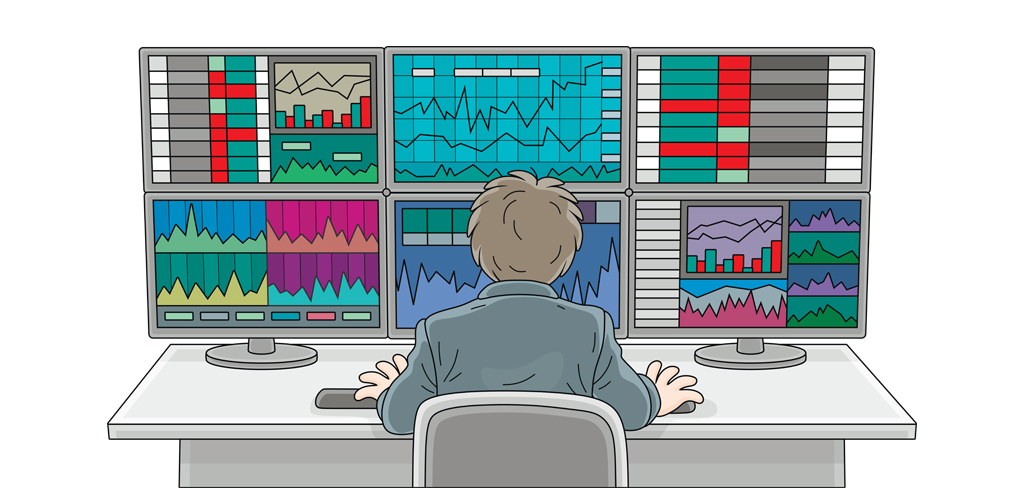 Ilustrasi perdagangan saham