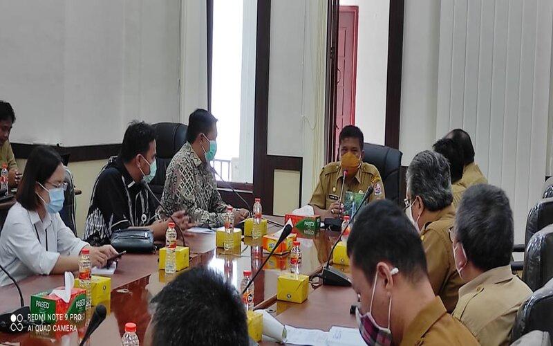Sosialisasi KPPU Wilayah 1 Medan kepada seluruh Organisasi Pemerintah Daerah (OPD) dan Unit Kerja Pengadaan Barang/Jasa (UKPBJ) Kabupaten Deli Serdang, Senin (12/4 - 2021).