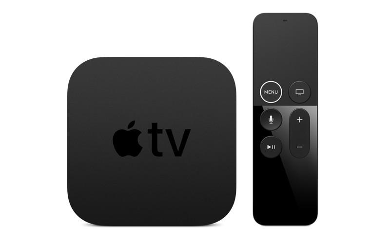 Apple TV. Televisi buatan Apple bakal terus diperbaiki dengan kontrol remote yang lebih baik, prosesor yang lebih cepat, dan kapasitas penyimpanan yang lebih besar.  - Apple.com