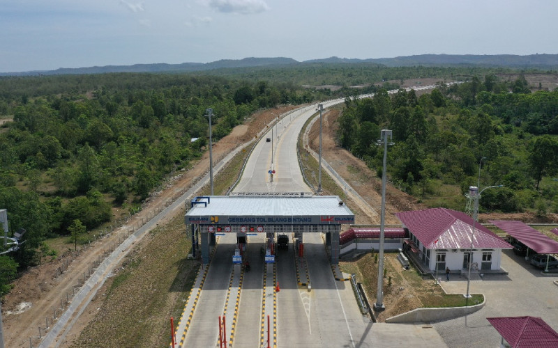 Jalan Tol Sigli Banda Aceh, bagian dari Jalan Tol Trans Sumatra (JTTS). - Hutama Karya